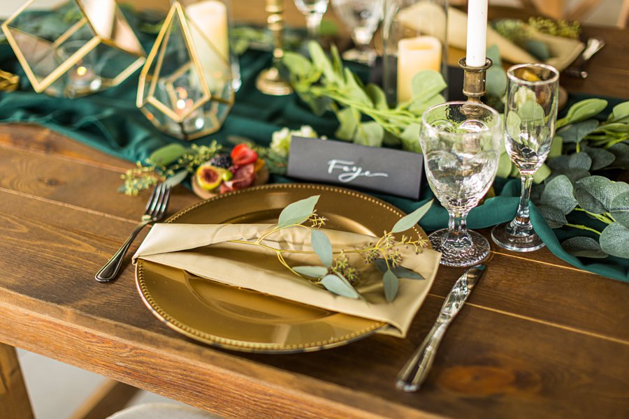 Flagstaff Arizona Venues: Styled Shoot the place setting