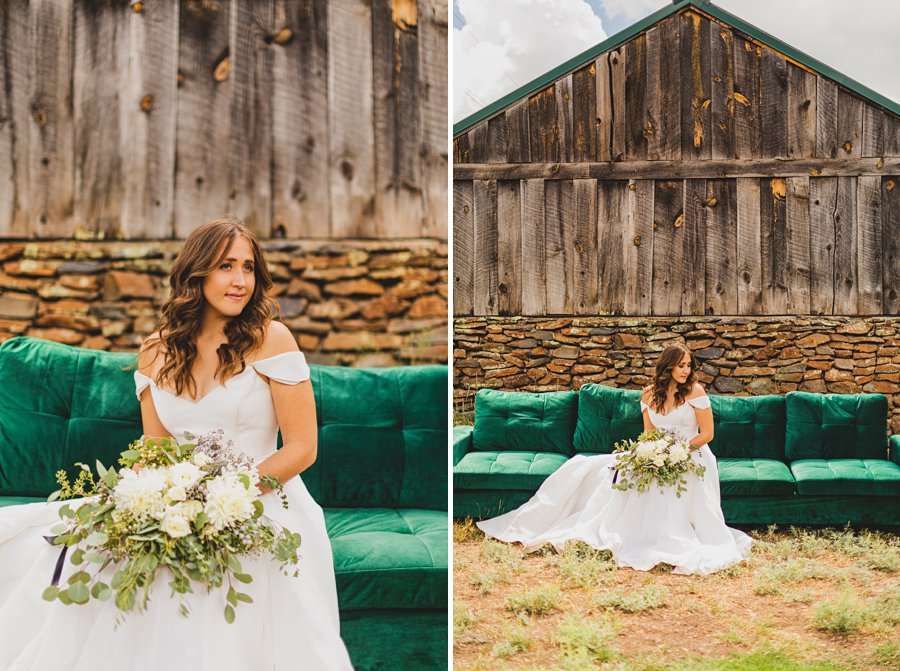 Flagstaff Arizona Venues: Styled Shoot bride alone
