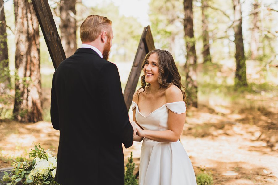 Aldea Weddings in the Woods: Styled Shoot the bride smiling emotions
