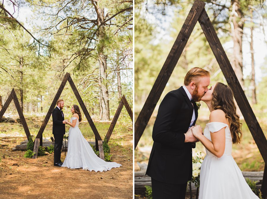 Aldea Weddings in the Woods: Styled Shoot the ceremony site