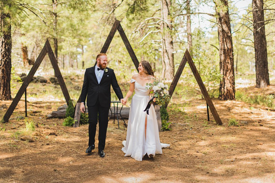 Aldea Weddings in the Woods: Styled Shoot walking together