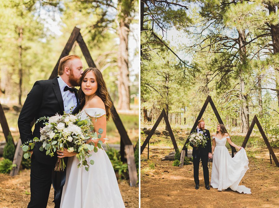 Aldea Weddings in the Woods: Styled Shoot the beautiful couple in the forest