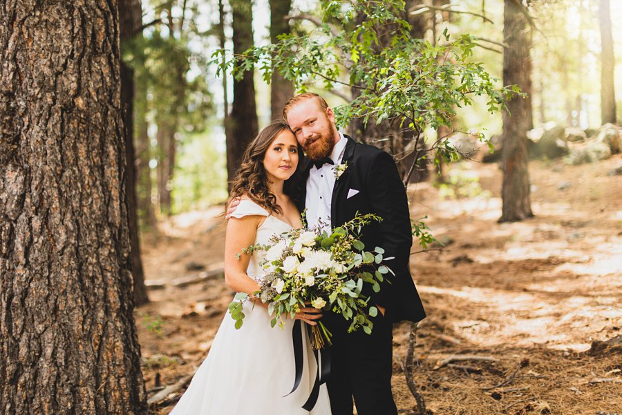 Aldea Weddings in the Woods: Styled Shoot bride and groom portraits