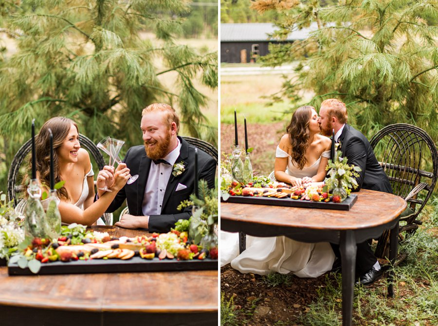 Flagstaff Arizona Venues: Styled Shoot the couple sweetheart table designs