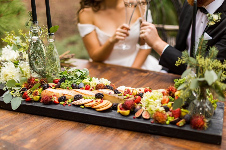 Flagstaff Arizona Venues: Styled Shoot the catering board