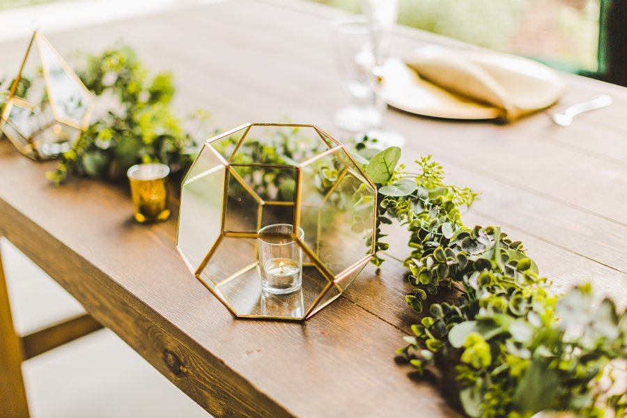 Flagstaff Arizona Venues: Styled Shoot geometric candles