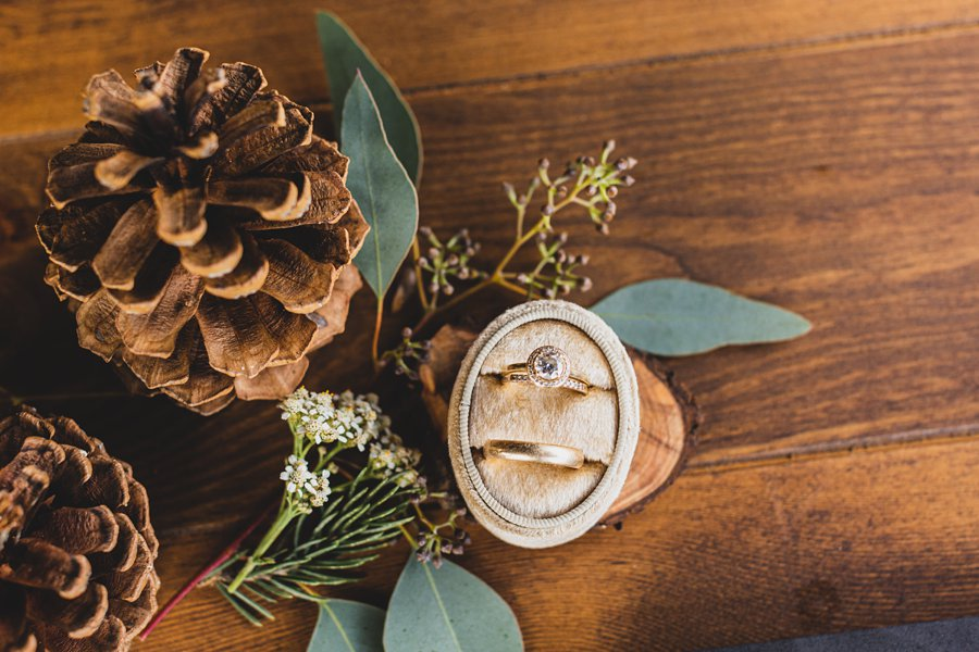 Aldea Weddings in the Woods: Styled Shoot the mrs box wedding rings