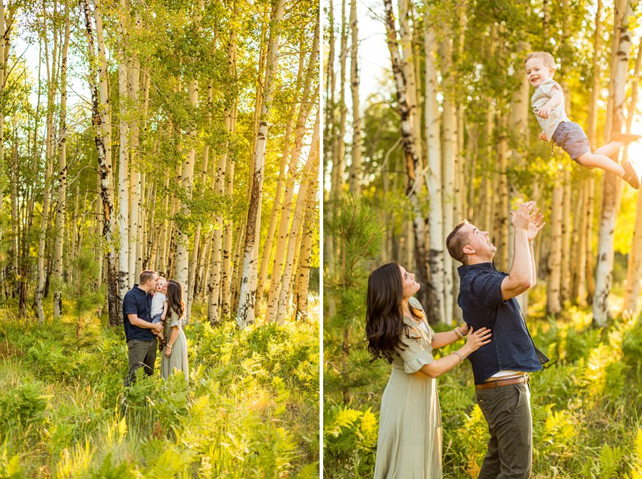 Anderson Family: Northern AZ Portrait Photography Aspens beautiful light and moments