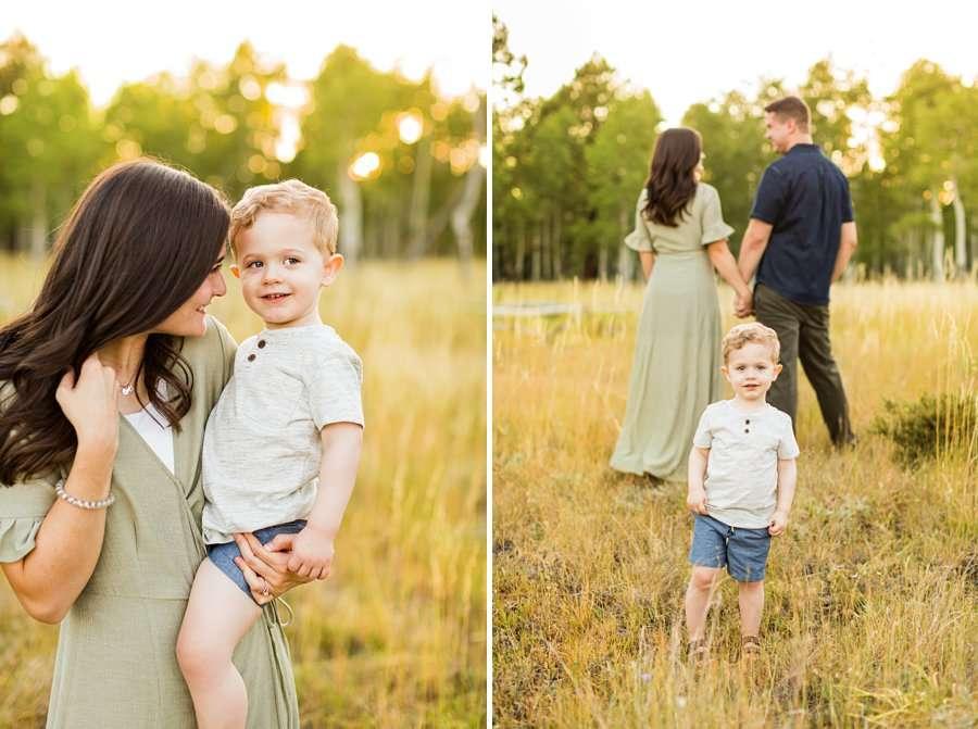 Anderson Family: Northern AZ Portrait Photography Aspens best locations