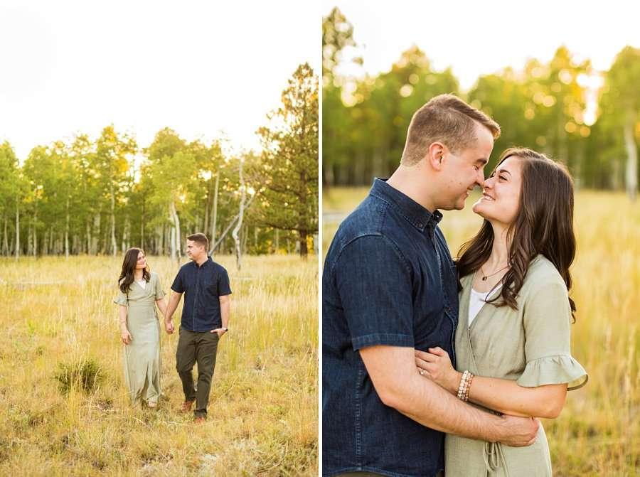 Anderson Family: Northern AZ Portrait Photography Aspens couple