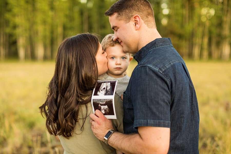 Anderson Family: Northern AZ Portrait Photography Aspens ultra sound maternity announcement