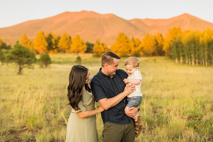 Anderson Family: Northern AZ Portrait Photography Aspens cuddling together