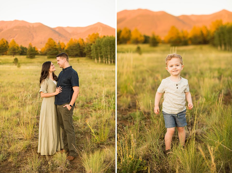 Anderson Family: Northern AZ Portrait Photography Aspens little man in nature