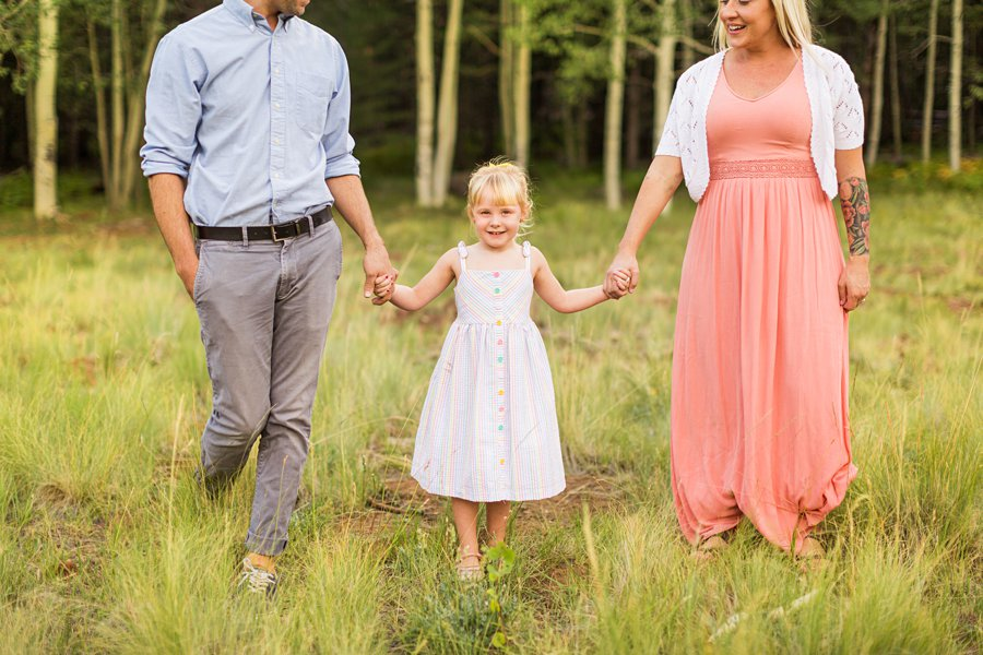 The Flood Family: Flagstaff Aspen Trees Photography little girl