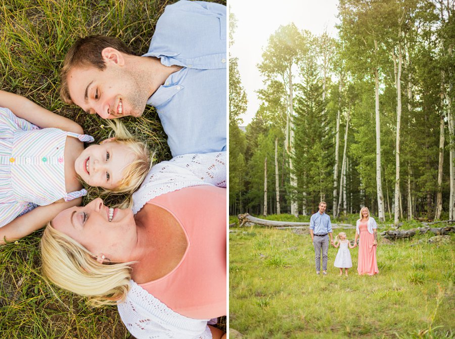 The Flood Family: Flagstaff Aspen Trees Photography unique poses for families creative