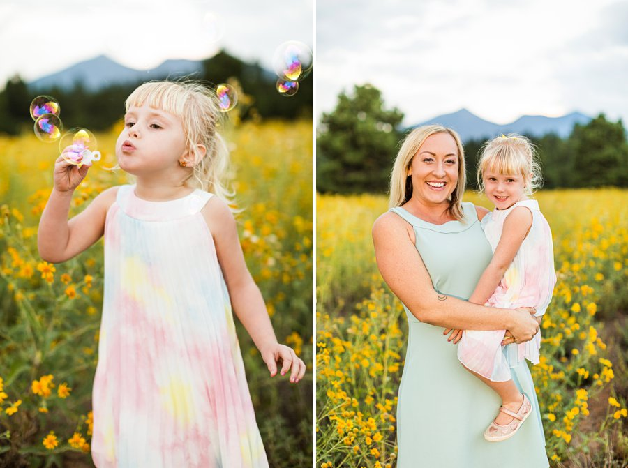The Flood Family: Flagstaff Aspen Trees Photography mother and daughter