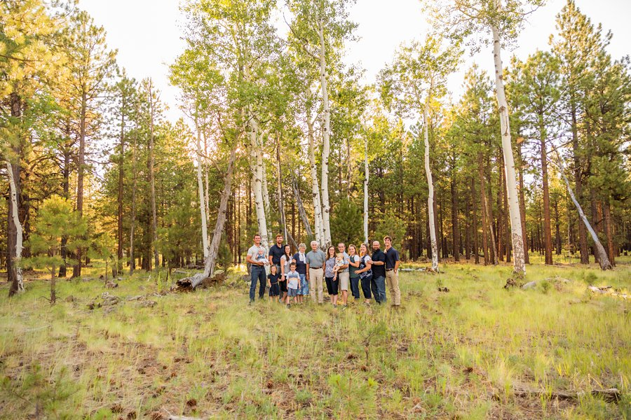 Bernard Family: Flagstaff Extended Family Photographer most scenic locations