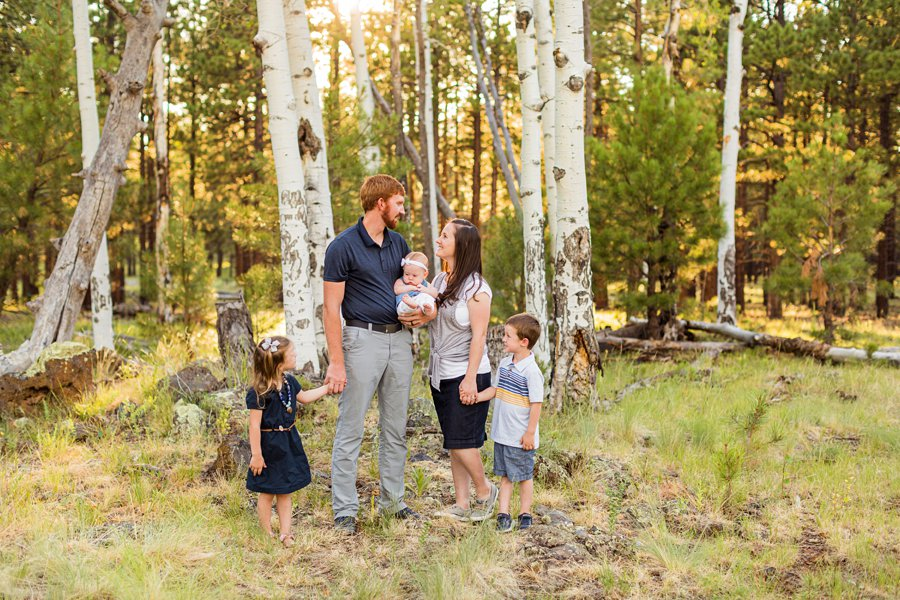 Bernard Family: Northern Arizona Portrait Photography best aspen trees