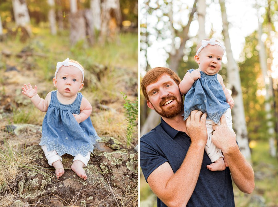 Bernard Family: Northern Arizona Portrait Photography father and daughter