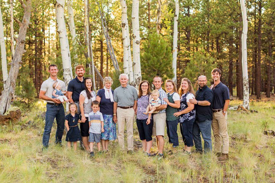Bernard Family: Flagstaff Extended Family Photographer extended families northern arizona