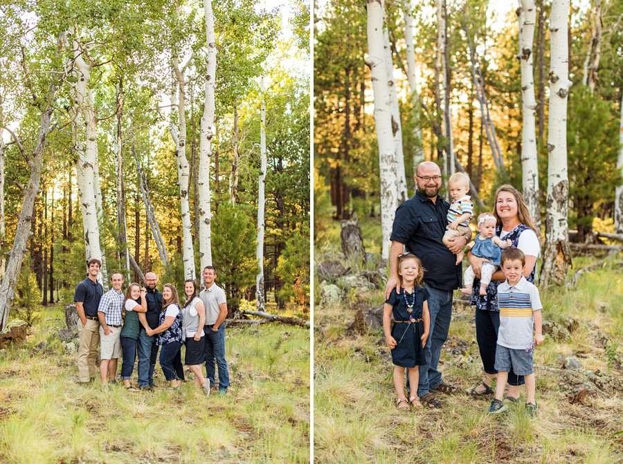 Bernard Family: Flagstaff Extended Family Photographer aspen locations