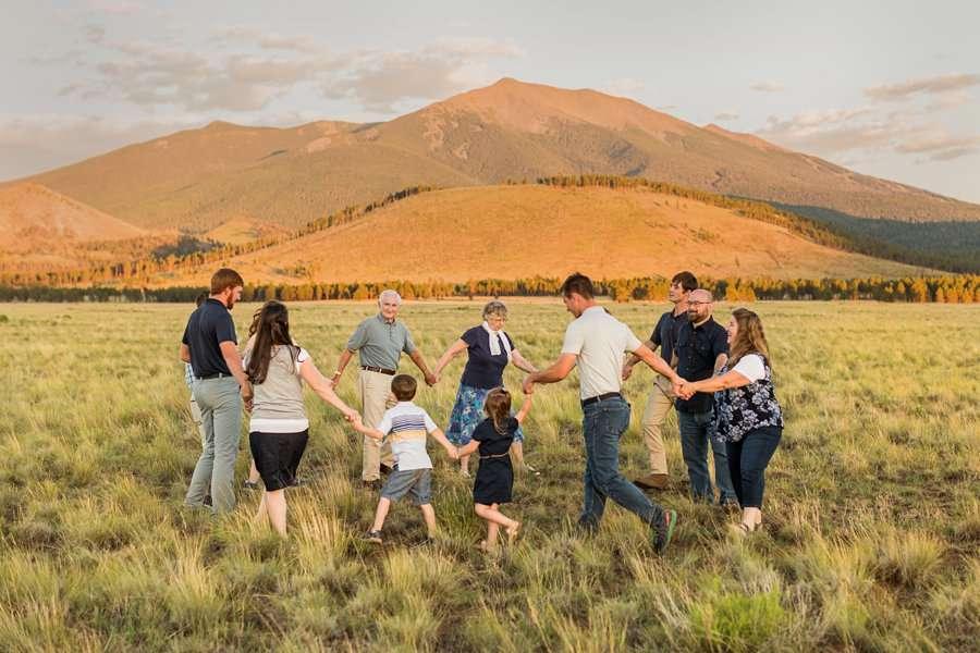 Bernard Family: Northern Arizona Portrait Photography mountain views