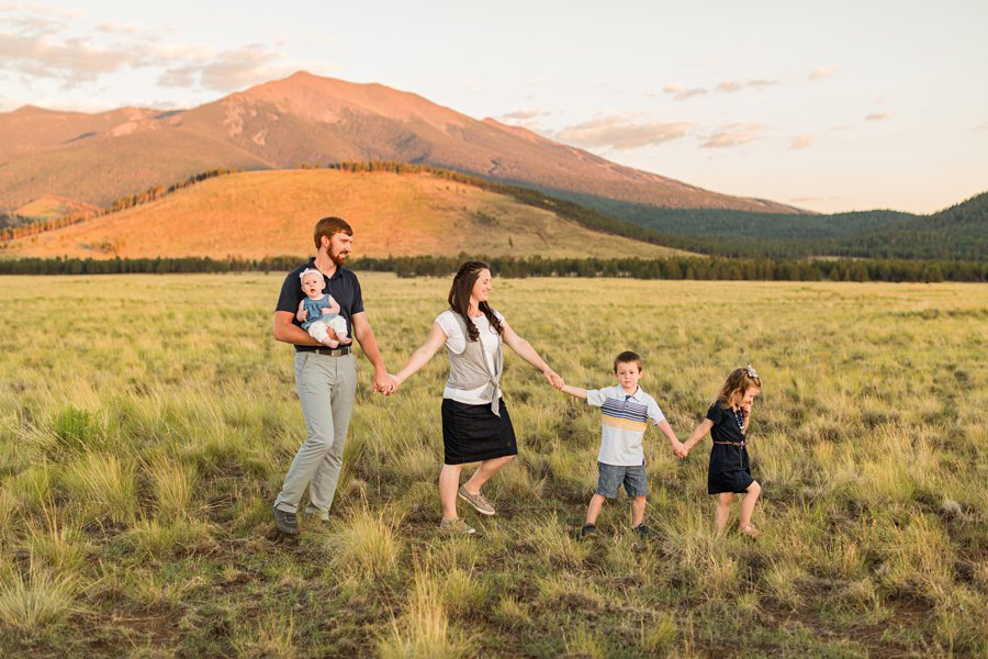 Bernard Family: Northern Arizona Portrait Photography iconic scenic sunset locations