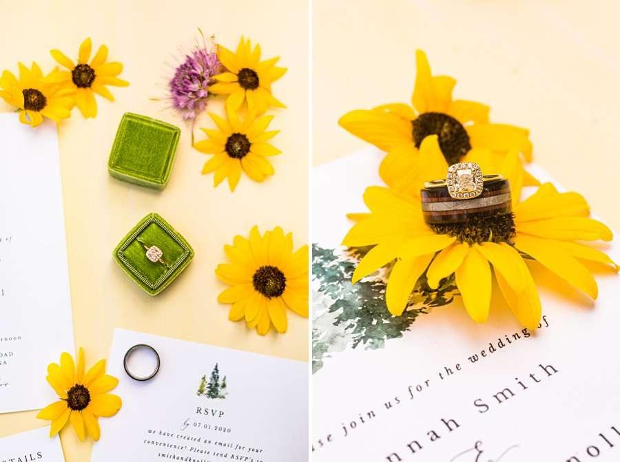 Hannah and Stephen: Meadow Mountain Flagstaff Wedding little sunflower details flagstaff