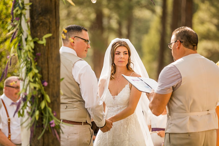 Hannah and Stephen: Northern Arizona Intimate Ceremonies brides view