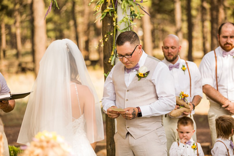 Hannah and Stephen: Northern Arizona Intimate Ceremonies reading the vows