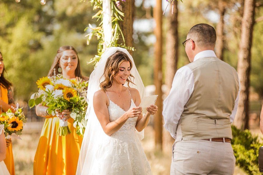 Hannah and Stephen: Northern Arizona Intimate Ceremonies exchanging vows