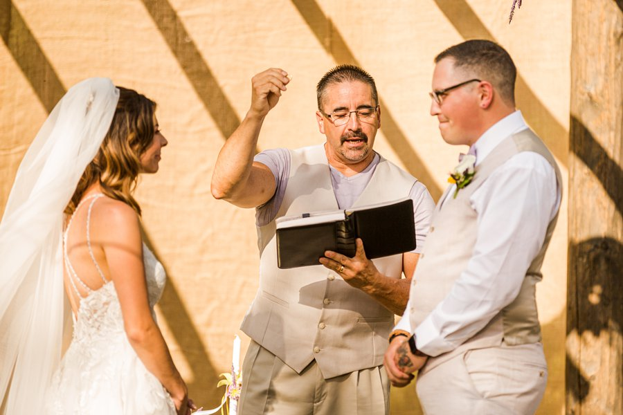 Hannah and Stephen: Northern Arizona Intimate Ceremonies blessing the rings
