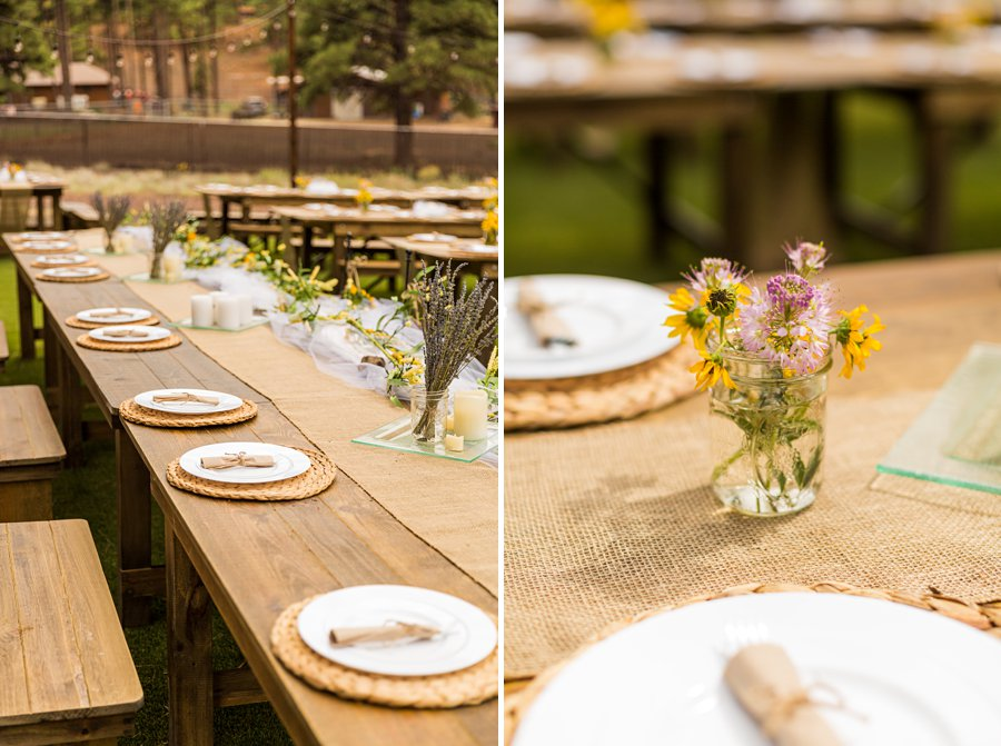 Hannah and Stephen: Meadow Mountain Flagstaff Wedding tablescapes