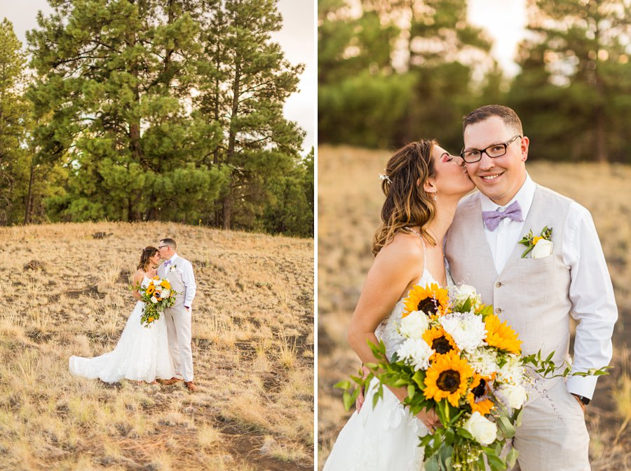Hannah and Stephen: Northern Arizona Intimate Ceremonies formal photography forest