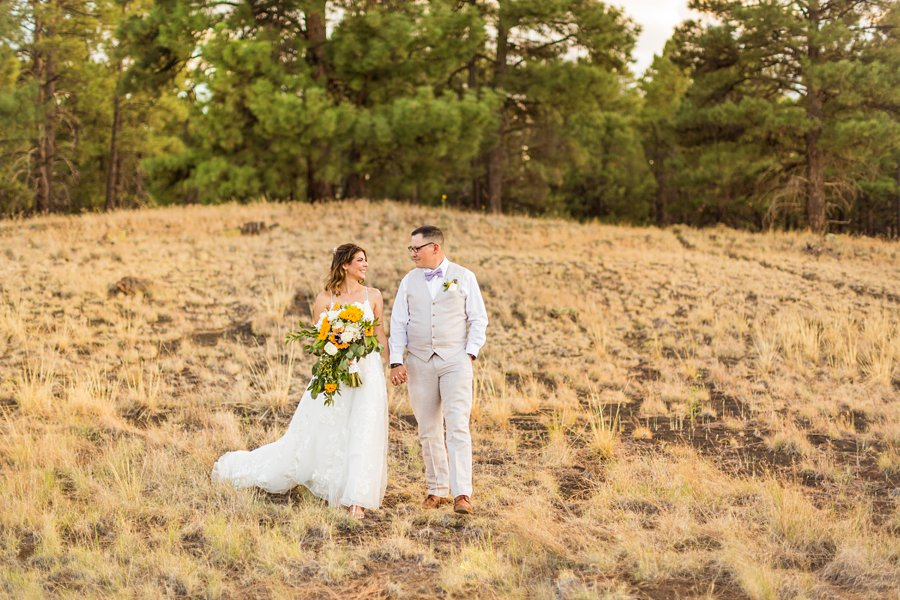 Hannah and Stephen: Meadow Mountain Flagstaff Wedding forest weddings