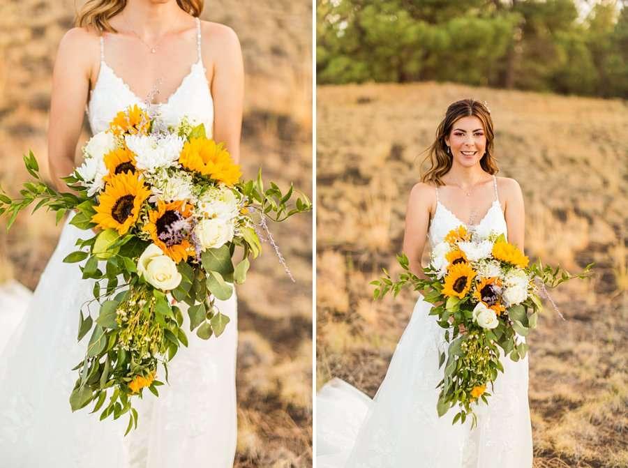 Hannah and Stephen: Meadow Mountain Flagstaff Wedding Ceremonies bride