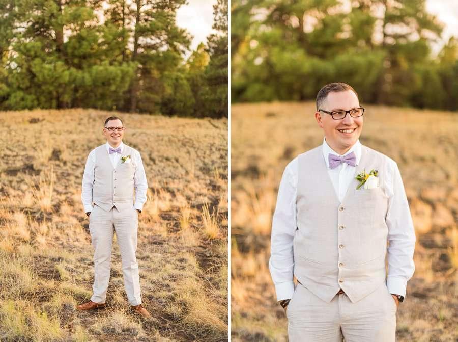 Hannah and Stephen: Northern Arizona Intimate Ceremonies groom