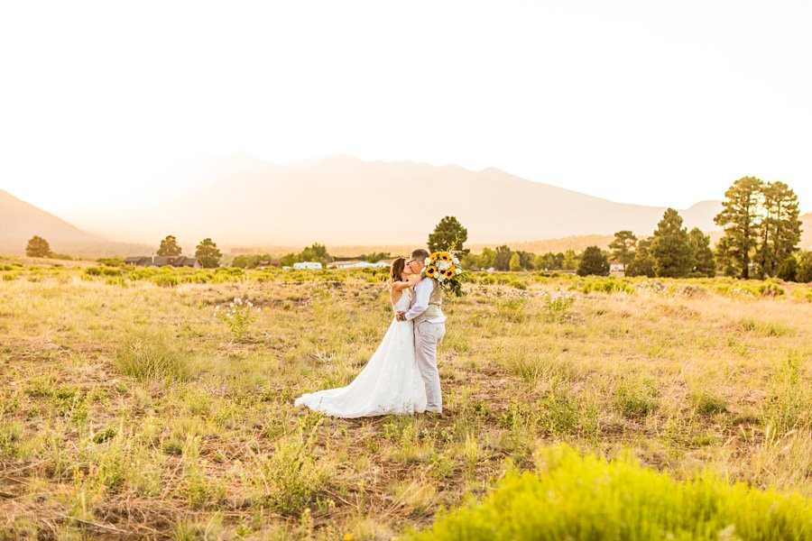 Hannah and Stephen: Meadow Mountain Flagstaff Wedding mountain sunset locations