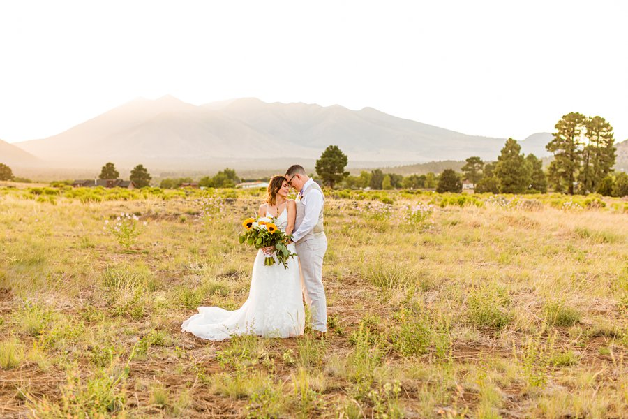 Hannah and Stephen: Meadow Mountain Flagstaff Wedding intimate poses for wedding