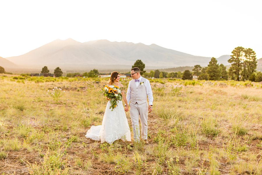 Hannah and Stephen: Meadow Mountain Flagstaff Wedding bride and groom