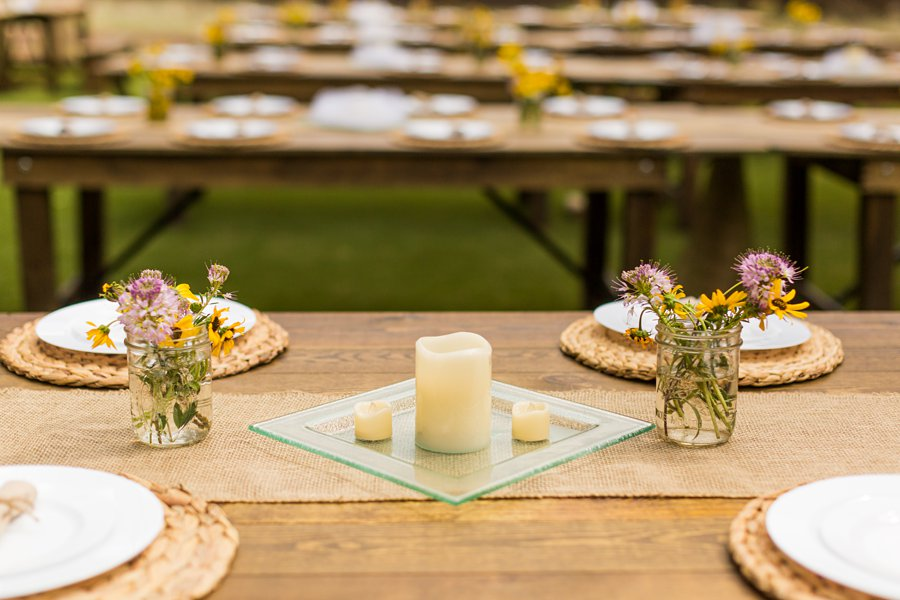 Hannah and Stephen: Meadow Mountain Flagstaff Wedding table design