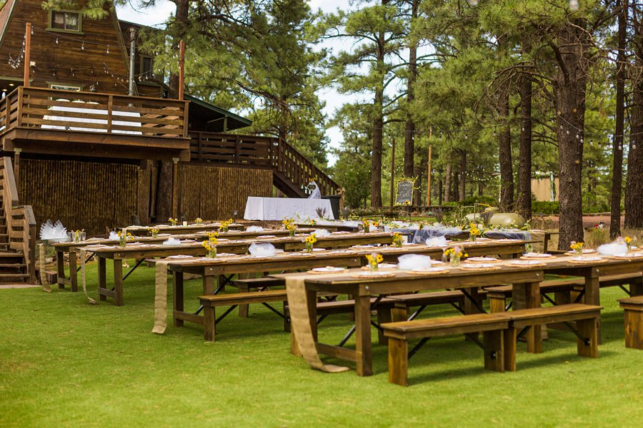 Hannah and Stephen: Meadow Mountain Flagstaff Wedding the reception site