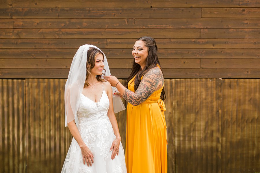 Hannah and Stephen: Northern Arizona Intimate Ceremonies the bride and bridesmaids