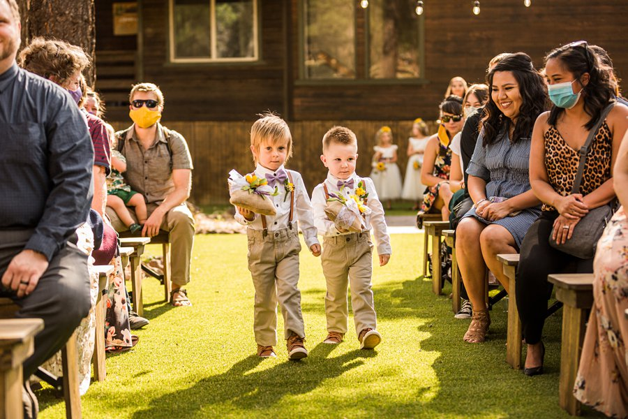 Hannah and Stephen: Northern Arizona Intimate Ceremonies ring bearers