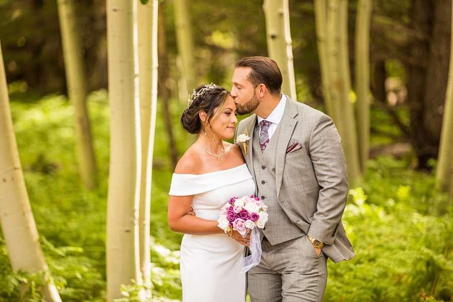 Jeanne-Marie and Rami: Flagstaff Snowbowl Wedding snuggles best photography locations Aspen Corner Flagstaff Elopement