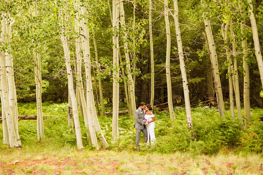 Jeanne-Marie and Rami: Flagstaff Snowbowl Wedding best places for photography sessions Aspen Corner Flagstaff Elopement
