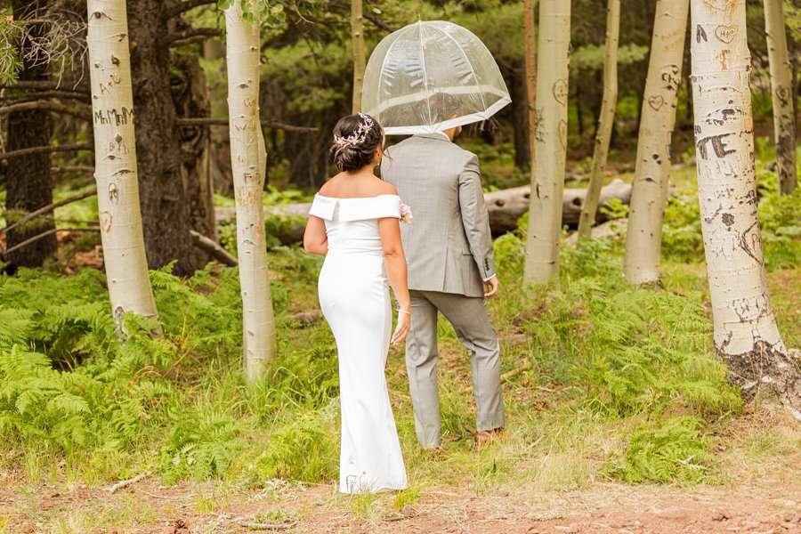 Jeanne-Marie and Rami: Aspen Corner Flagstaff Elopement the first look