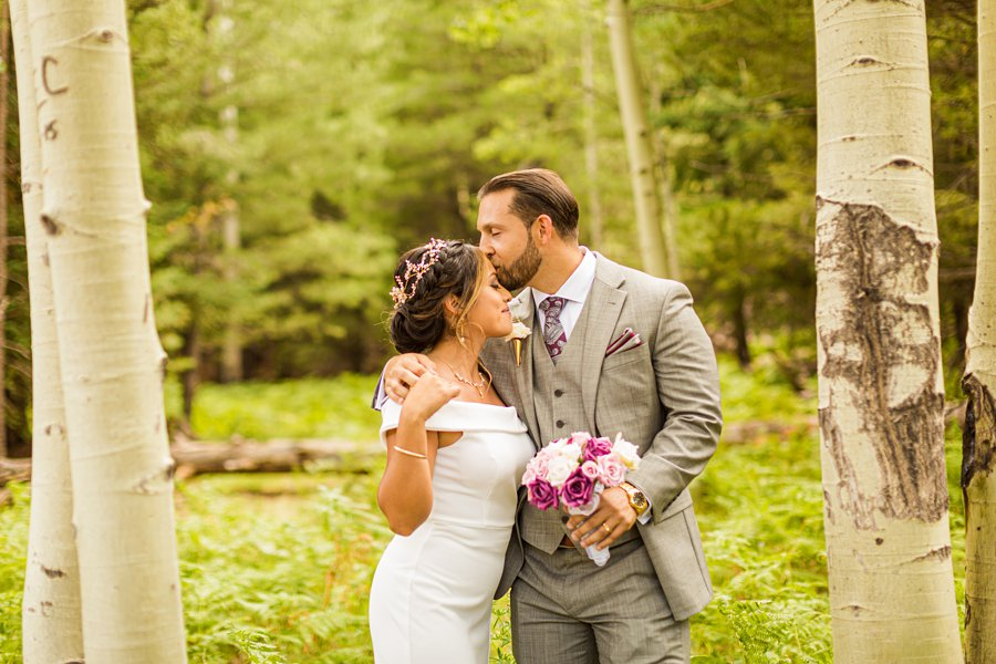 Jeanne-Marie and Rami: Flagstaff Snowbowl Wedding best places for weddings in arizona Aspen Corner Flagstaff Elopement