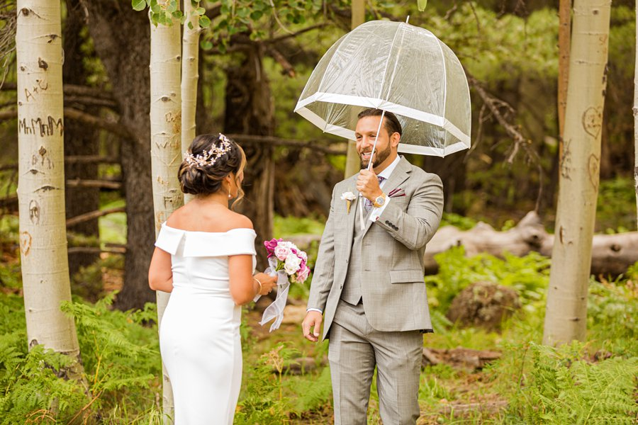 Jeanne-Marie and Rami: Arizona Mountains Wedding the first look