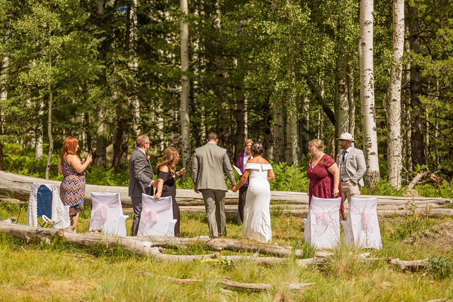 Jeanne-Marie and Rami: Arizona Mountains Wedding the first approach